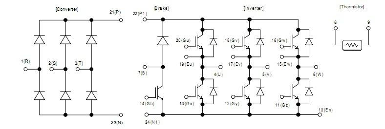 igbt模块外部连接电路图