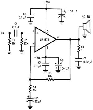 lm1875t 20 - w音频功率放大器