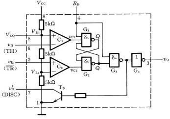 555时基集成电路内部电路图