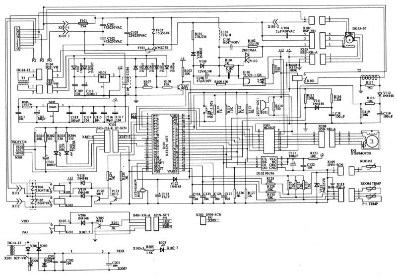 空调控制电路原理图