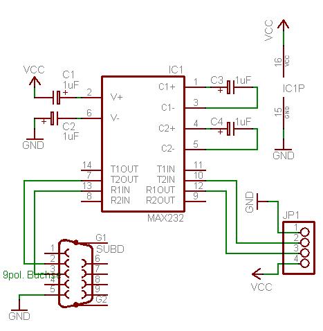 rs232转rs422电路图_RS232接口电路图