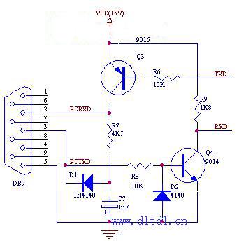 三极管实现的232接口电路