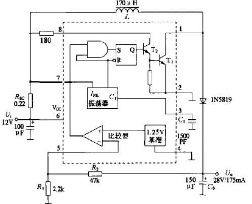 mc34063中文资料应用原理-mc34063升压电路芯片-mc图