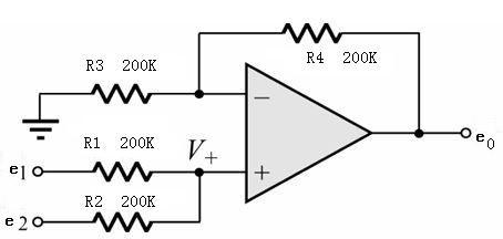 同相加法器电路原理-原理图-电路图