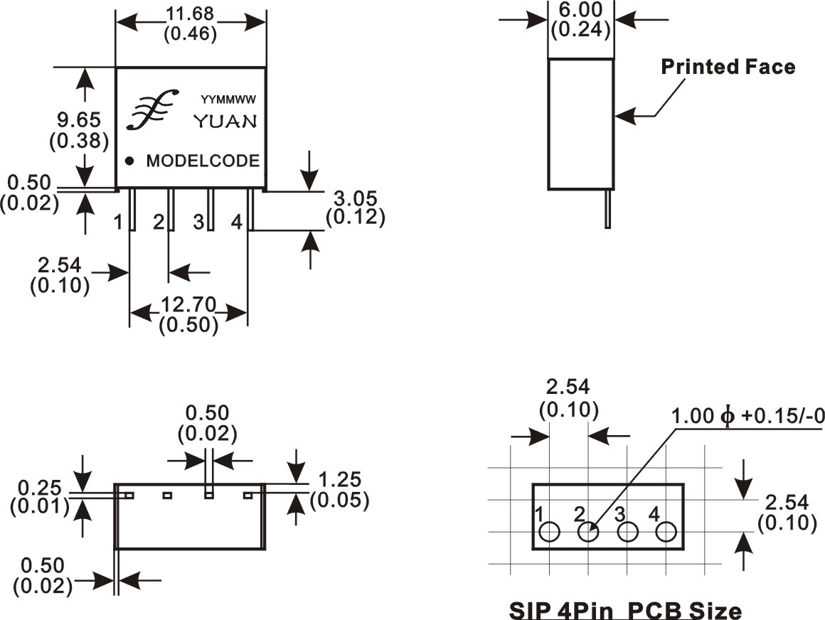 rs485接口dc-dc隔离电源:b0505s-1w;b0509s-w1;b0305s