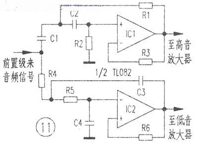 当从反相端输入信号时,其输出与输入端信号相位相反,即反相放大.