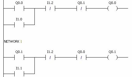3 互锁控制电路 用在一组相反控制,比如电机的正反接触器等等.