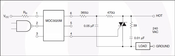 光学隔离可控硅驱动装置光耦