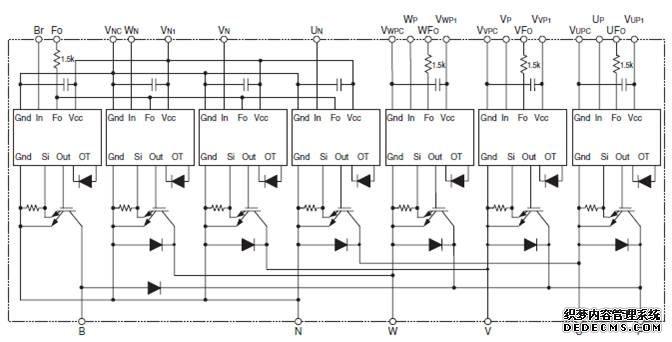 当系统出现上述故障时,保护电路将igbt关断并输出故障信号.