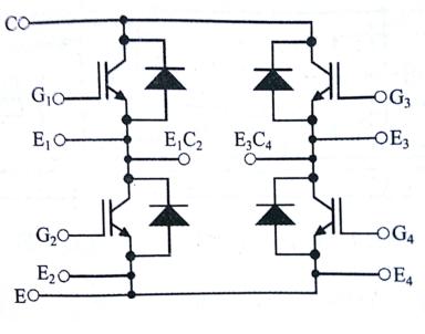igbt模块五种不同的内部结构和电路图