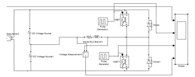 matlab仿真软件绘制主电路结构模型图