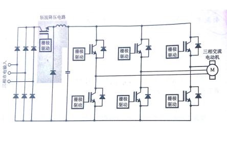 pam是振幅调制的意思,利用斩波器先将主电源降压,再进行pwm方式变频.