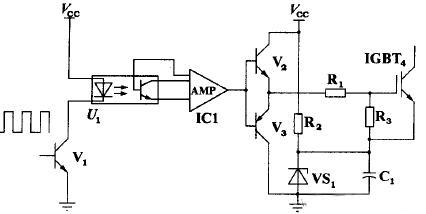 igbt光耦隔离驱动电路原理 示意图