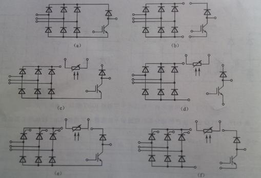 图1-5 三相整流桥 斩波器 三相桥igbt模块的主要参数
