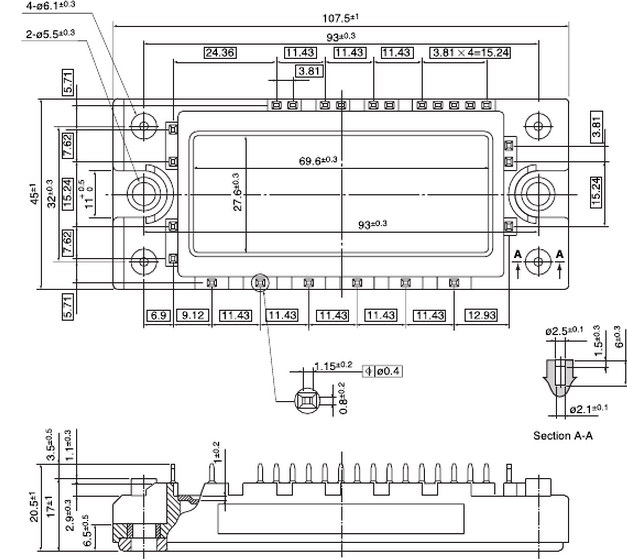 7mbr15sa120 pim模块进一步发挥igbt芯片的性能,采用专用的驱动电路