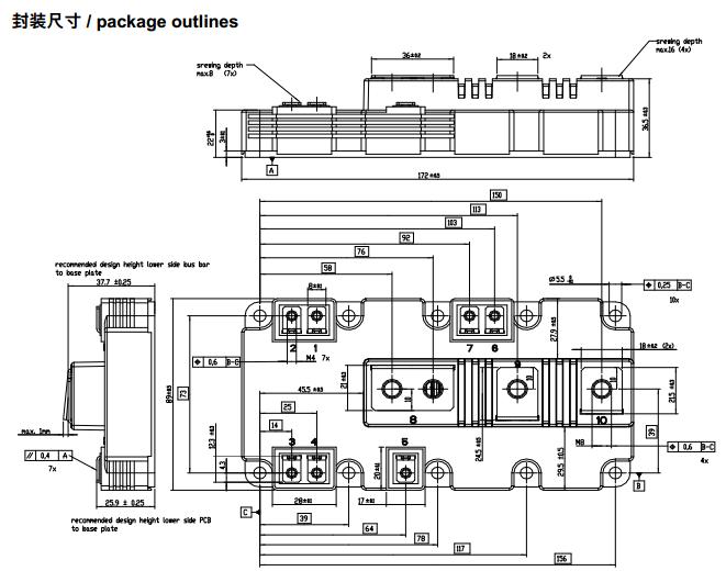 igbt模块拥有卓越的热性能,集成了最新的芯片技术和高度创新的电路