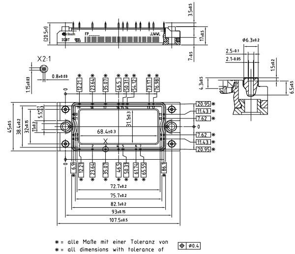 FP35R12KT4属于英飞凌EconoPIM封装系列产品,可以覆盖商用空调6HP-20HP,马达驱动3.7-18.5kw。采用第四代IGBT场终止技术,低损耗,快速型,开关频率可以达到15khz以上.两种封装Econo2和Econo3封装,也有兼容第三代产品Pin脚,尾坠带_B15。在商用空调、通用变频器、伺服驱动器等多个工业领域广泛应用。 产品特性:•第四代IGBT模块,最高工作结温150度,低损耗,快速型.