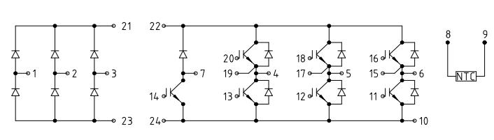 模块内部不仅把igbt功率开关器件和驱动电路集成在